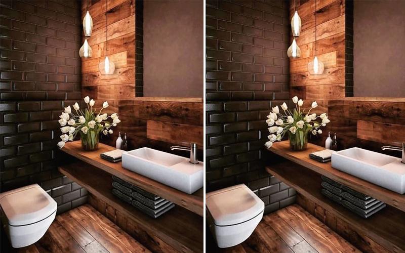 Bộ sưu tập phòng tắm màu nâu dành cho người mệnh Hỏa